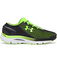 Under Armour Speedform Gemini 2.1 - scarpe running, Black/Green