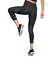 Under Armour Speedpocket Run Crop - pantaloni running lunghi - donna, Black
