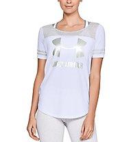 Under Armour Sportstyle Baseball T - T-Shirt - Damen, White