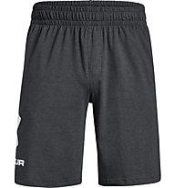 Under Armour Sportstyle Cotton Graphic - pantaloni fitness - uomo, Dark Grey/White