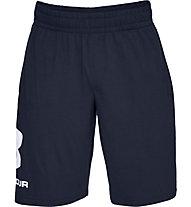 Under Armour Sportstyle Cotton Graphic - pantaloni fitness - uomo, Dark Blue/White