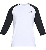 Under Armour Sportstyle Left Chest 3/4 Tee - maglia fitness - uomo, White/Black