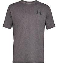 Under Armour SportStyle Left Chest SS - T-shirt - Herren, Dark Grey