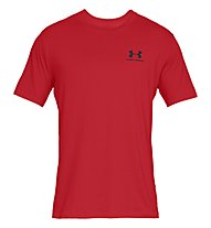 Under Armour SportStyle Left Chest SS - T-shirt - Herren, Red
