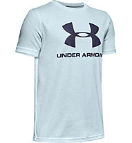 Under Armour Sportstyle Logo - T-shirt - ragazzo, Light Blue/Blue
