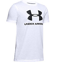 Under Armour Sportstyle Logo - T-shirt - ragazzo, White