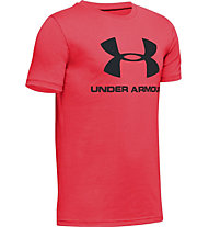 Under Armour Sportstyle Logo - T-shirt - ragazzo, Red