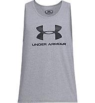 Under Armour Sportstyle Logo SS - canotta fitness  - uomo, Grey