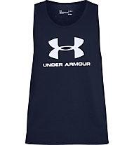 Under Armour Sportstyle Logo SS - canotta fitness  - uomo, Blue