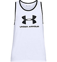Under Armour Sportstyle Logo SS - canotta fitness  - uomo, White