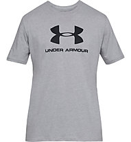 Under Armour Sportstyle Logo SS - T-shirt fitness - uomo, Grey