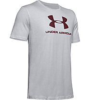 Under Armour Sportstyle Logo SS - T-shirt fitness - uomo, Grey/Red