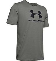 Under Armour Sportstyle Logo SS - T-shirt fitness - uomo, Grey/Black