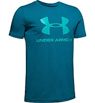 Under Armour Sportstyle Logo - T-Shirt - Kinder, Light Blue