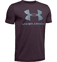 Under Armour Sportstyle Logo - T-shirt - ragazzo, Purple