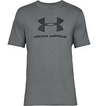 Under Armour Sportstyle Logo SS - T-shirt fitness - uomo, Dark Grey