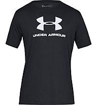 Under Armour Sportstyle Logo SS - T-shirt fitness - uomo, Black