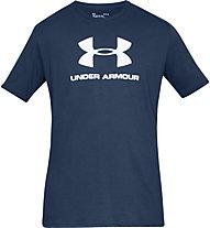 Under Armour Sportstyle Logo SS - T-shirt fitness - uomo, Dark Blue