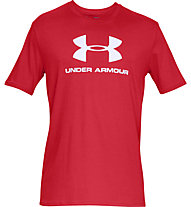 Under Armour Sportstyle Logo SS - T-shirt fitness - uomo, Red