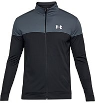 Under Armour Sportstyle Pique - giacca della tuta - uomo, Grey/Black