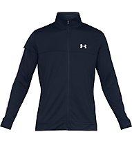 Under Armour Sportstyle Pique - giacca della tuta - uomo, Dark Blue