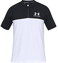 Under Armour Sportstyle Track 1/2 zip - maglietta sportiva - uomo, White/Black