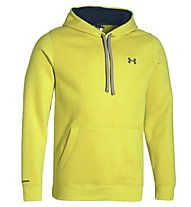 Under Armour Storm Cotton Pullover Hoody felpa, Sunbleached/Petrol Blue