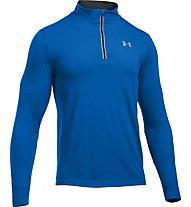 Under Armour Streaker 1/4 Zip -  langärmeliges Fitnessshirt Herren mit Reißverschluss, Blue