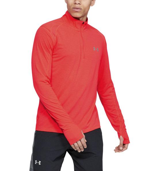 Rot schnelltrocknendes Funktionsshirt mit Rei/ßverschluss Large Under Armour Herren Streaker 2.0 atmungsaktives Sportshirt mit Half Zip