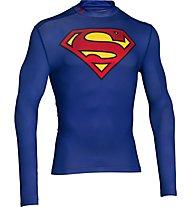 Under Armour Superman Evo Comp T-Shirt, Navy