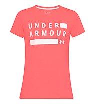 Under Armour Threadborne Graphic Twist Training SS - T-Shirt - Damen, Red