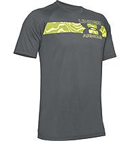 Under Armour Tech™ 2.0 Graphic - Trainingsshirt - Herren, Grey/Green