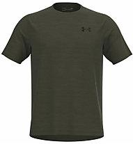 Under Armour Tech 2.0 Novelty - T-shirt fitness - uomo, Light Green/Black