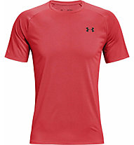 Under Armour Tech 2.0 Novelty - T-shirt fitness - uomo, Light Red/Black