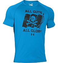 Under Armour Tech All Guts All Glory Shirt Herren, Electric Blue/Black
