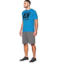 Under Armour Tech All Guts All Glory T-shirt Fitness, Electric Blue/Black