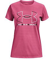 Under Armour Tech Big Logo - t-shirt fitness - ragazza, Pink