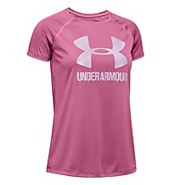 Under Armour Tech™ Big Logo Solid - T-shirt fitness - ragazza, Pink