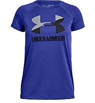 Under Armour Tech™ Big Logo Solid - T-shirt fitness - ragazza, Blue/Black