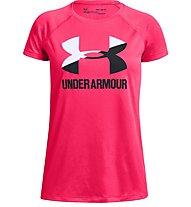 Under Armour Tech™ Big Logo Solid - T-shirt fitness - ragazza, Pink/Black