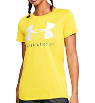 Under Armour Tech Graphic Twist SS - T-shirt fitness - donna, Yellow
