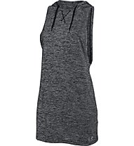 Under Armour Tech hooded tunic twist Top fitness donna, Black