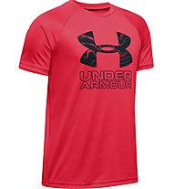 Under Armour Tech Hybrid Print Fill Logo Tee - T-shirt - Kinder, Red