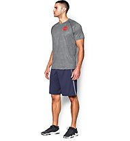 Under Armour Tech Scope Printed Shirt Herren, Grey/Red