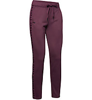 Under Armour Tech Terry - pantaloni fitness - donna, Violet