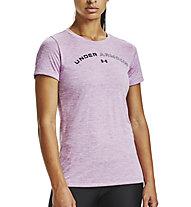 Under Armour Tech™ Twist Graphic LU - T-shirt fitness - donna, Purple