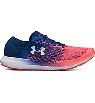 Under Armour Threadborne Blur W - scarpe running neutre - donna, Blue/Pink