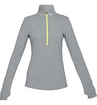 Under Armour Threadborne Streaker Half Zip - Runningshirt - Damen, Grey/Yellow