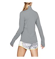 Under Armour Threadborne Streaker Half Zip - maglia running - donna, Grey/Yellow