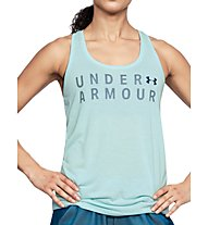 Under Armour Training Graphic Twist - top fitness - donna, Light Blue
